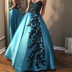 Ellie Wilde Satin Prom/Homecoming Dress